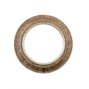 Espejo circular dorado