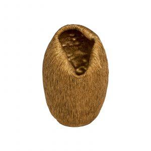 Florero dorado resina Acanalado