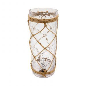 Bricero cilíndrico Lazo cruzado en vidrio