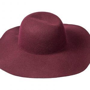 Sombrero paño vino