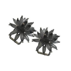 Servilletero flor gris