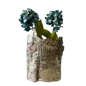 Bricero flor L (florero plateado irregular)