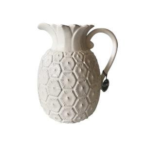 Solero jarra piña blanca cerámica