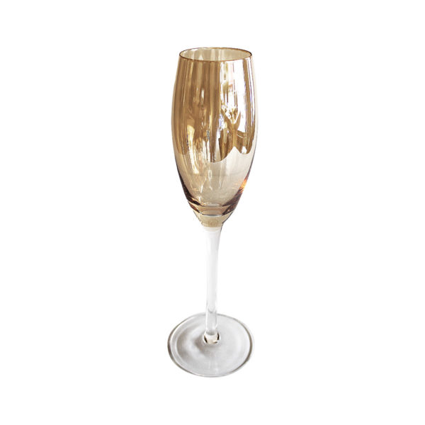 Copas ambar champaña set x 4