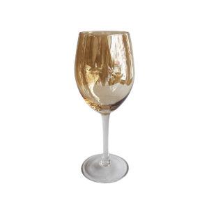 Copas ambar vino set x 4