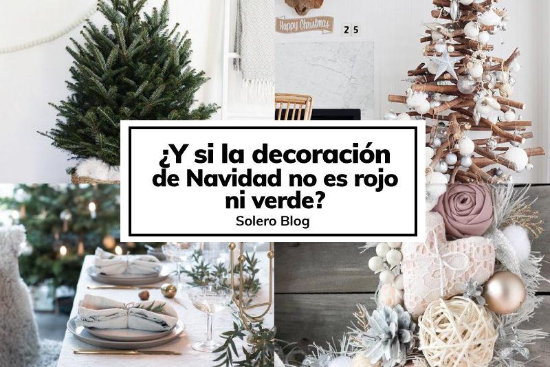 Decoración navideña que no es ni rojo ni verde